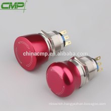 CMP IP65 metal red emergency button 22mm switch