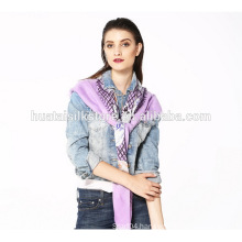 Fashion Accessory for Girl Hat and Lattice Viscos Big Square Scarf