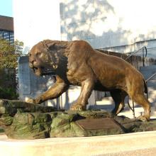 cat sculpture bronze