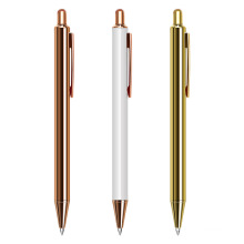 Best Selling Promotion Gift Rose Gold Click Metal Ball Pen With Custom Logo For Wedding Gift Gold Pen
