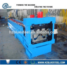 Glazed Colored Iron Ridge Cap Shaping Machine / Metal Step Ridge Cap Roll Forming Making Machine
