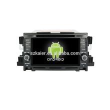 Quad core android, 7 polegada tela capacitiva sistema de navegação do carro android Para Mazda CX-5 car audio car dvd player