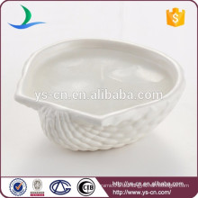 Weiße Steingut-Seashell-Kerzen-Halter für Geschenke