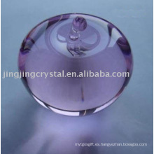 Lovely Crystal Apple Crystal Glass Purple Apple para regalo