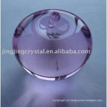 Linda maçã de cristal cristal vidro roxo apple para presente