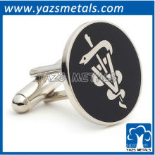 Veterinary caduceus cufflinks, customize high quality metal cufflinks