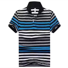 Soem-heißer Streifen Pique-zufälliges Polo-Hemd für Mann
