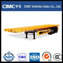 Caminhão de reboque Cimc Tri-Axle 40 Tons Flatbed