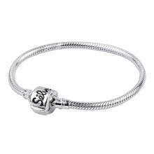 Bracelets de chaîne en serpent en argent 925 pour perles européennes