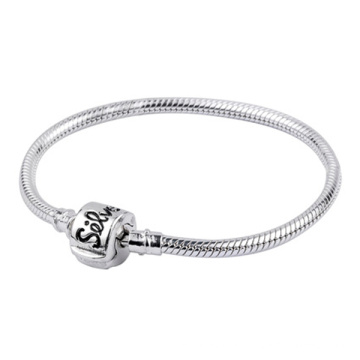 925 Silver Snake Chain Bracelets for European Beads