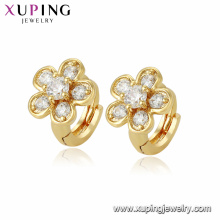 96205 xuping jewelry 24k gold plated zircon stone baby flower earring