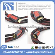 Gold überzogen 1.3 / 1.4v Kabel HDMI mit Nylon Volles Kupfer 1.5m, 1.8m, 3m, 5m, 10m, 20m, 50m ..