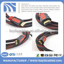 Gold Plated 1.3/1.4v Kabel HDMI With Nylon Full copper 1.5m,1.8m,3m,5m,10m,20m,50m..