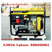 Generador portable refrigerado aire 5kw para el uso casero 100% Cooper