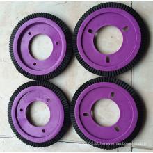 0.4mm preto PBT roda escova de têxteis para máquina de LK (YY-608)