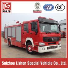 HOWO Fire truck 4x2 drive 266hp 8000L loading capacity