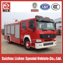 HOWO Fire engine 266hp 8000L loading