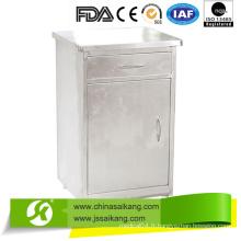 Cabinet de chevet d'hôpital d'acier inoxydable