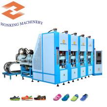 Cuatro estaciones EVA Shoes Making Machine