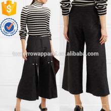 Faux Pearl-verschönert Plissee Jacquard PantsHerstellung Großhandel Mode Frauen Bekleidung (TA3042P)