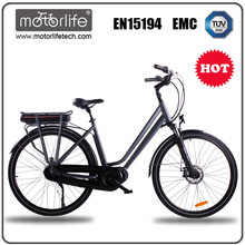 MOTORLIFE/OEM EN15194 HOT SALE 36v 250w 700C mid drive electric bike,36v 10.4ah 36 volt lithium ion battery for electric bicycle