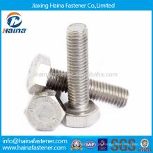 Stock DIN933 304 / A2-70 / A4-70 Parafuso de aço inoxidável Hex