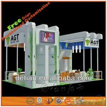 Exhibición show stand stand de moda suministros con cabina y stand por encargo stand para Feria de muestras en China