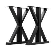 Pieds de table basse industriels en métal moderne