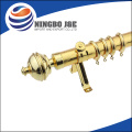 Paint Finish Dual Leaf Finial Adjustable Metal Curtain Rod