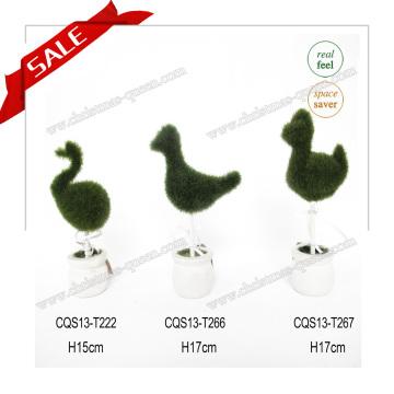 H10-19cm Hot Sale Mini Plastic Artificial Succulents Binsai Wedding Decoration