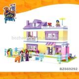 Ausini princess castle house model plastic intelligence building blocks bricks construct toy for kids