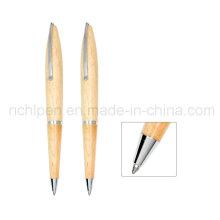 Sharp Design Full e Small Clip Wood Pen Business Caneta Papelaria
