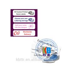 Ferro feito sob encomenda na escola de vestuário da etiqueta da roupa do Tag do nome Tapes etiquetas personalizadas do nome