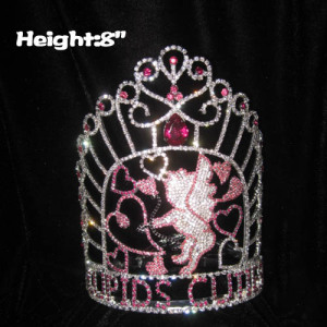 8in Height Cupids Love Valentines Pageant Crowns