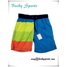 Пляжные шорты для детей и подростков с контрастным цветом
