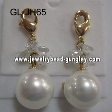 gift wedding shell pearl earrings
