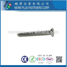 Fabriqué en Taiwan DIN963 M2.5X6 SS304 Flat Head Slotted Machine Screw