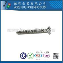 Fabricado em Taiwan M4 * 10mm Classe 4.8 SUS 304 DIN963 Parafuso de máquina de cabeça moleira especial