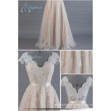 2017 Custom Made Lace V-Neck Wedding Dress Bridal Gown Latest