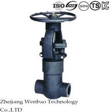 La valve de porte en acier au carbone à haute pression forgée