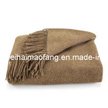 100% кашемир бахромой одеяло