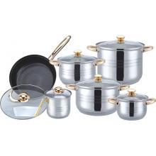Juego de utensilios de cocina chapados en oro de 12 piezas