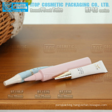 attractive and cute 19mm and 25mm diameter pe soft tube with sharp screw lid hot-selling round plastic cosmetic tube