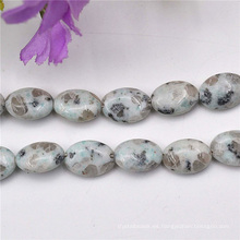 Semi preciosa piedra verdadera granos patrón decorativo