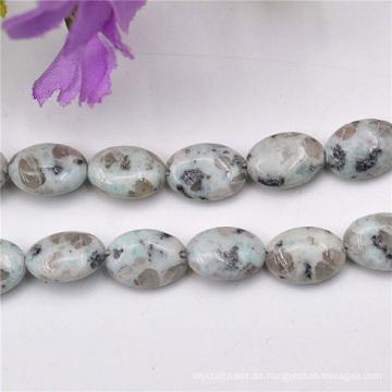 Halb kostbaren Perlen mit echtem Stein dekorative Muster