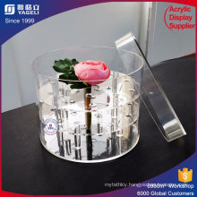 2016 Customized Rose Boxes Acrylic Flower Display Boxes