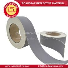 Color gris 0.8mm espesor reflexivo PVC de cuero