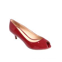 Fisch Toe Red Kitten Heel Damenschuhe High Heel Schuhe Pumps