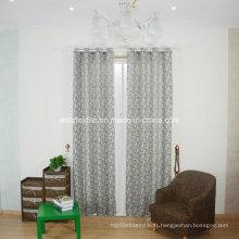 Rideau de fenêtre jacquard de lin populaire à la mode 2016