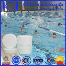 Tableta de dióxido de cloro estable utilizada en el tratamiento de piscinas